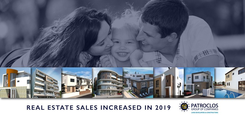 Real estate sales increased by 12% for 2019
