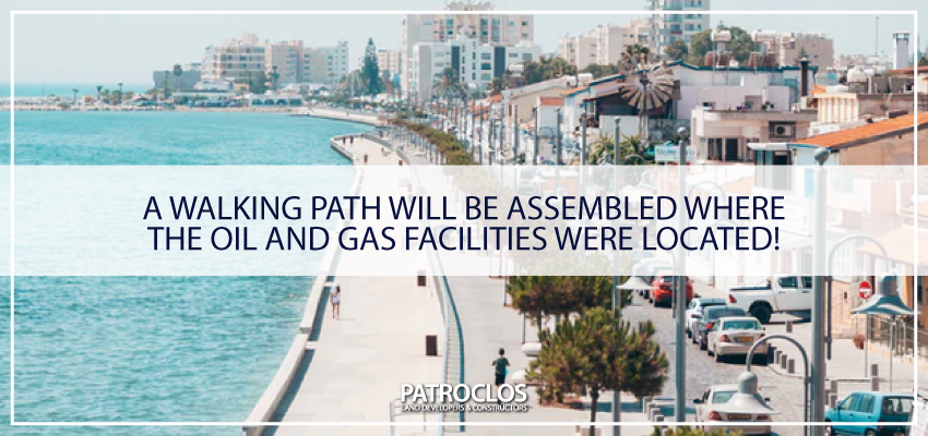 A walking path will be assembled where the oil and gas facilities were located